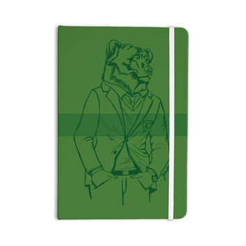 "Geordanna Cordero-Fields ""Dapper Bear Green"" Emerald Animal Everything Notebook"