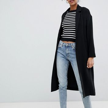 Monki Oversized Lightweight Coat at asos.com