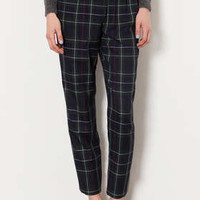 TARTAN CHECK BALLOON TROUSERS