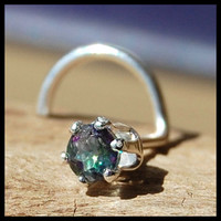 Nose Stud Mystic Topaz and Sterling Claw Set - CUSTOMIZE