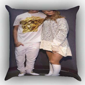 austin mahone and ariana grande X1100 Zippered Pillows  Covers 16x16, 18x18, 20x20 Inches