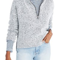 Madewell Marled Half Zip Sweater | Nordstrom