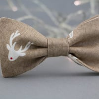 Christmas Children's Bow Tie Red Nose Reindeer Bow Tie for Kids Toddler Bow Tie Christmas Gift for Children Optional Set for Father and Son