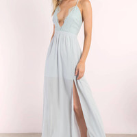 Opposites Attract Lace Maxi Dress