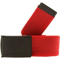 Diamond Supply Co OG Logo Clamp Belt (red) Accessories C14DAA01RED | PickYourShoes.com
