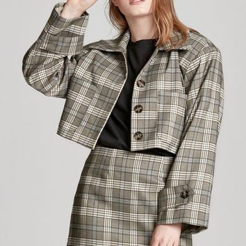 Kylie Cropped Check Jacket Discover the latest fashion trends online at storets.com
