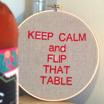 Real Housewives of New Jersey - Funny Quote Embroidery Hoop