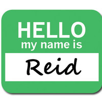 Reid Hello My Name Is Mouse Pad