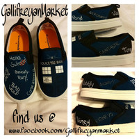Hand Painted Children's Doctor Who shoes size 8 youth/toddler