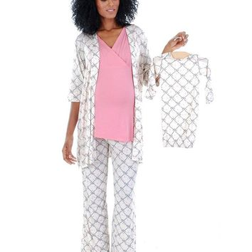 Roxanne 5-Piece Maternity & Nursing PJ Set | Duchess