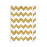 "KESS Original ""Candy Cane Gold"" Chevron Everything Notebook"