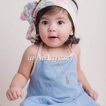 Reversible Head Wrap, Easter Baby Headband, Girls Fabric Wrap, Infant-Adult (READY TO SHIP)