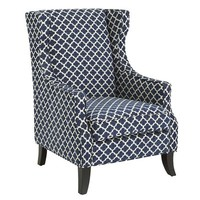 Alec Wing Chair - Navy Trellis$399.99$449.95