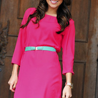 Where Have You Been Dress: Hot Pink | Hope's