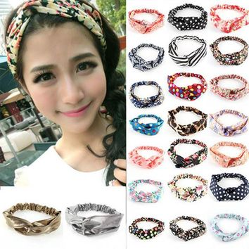 Turban Floral Twisted Knotted Headband Hair Accessories