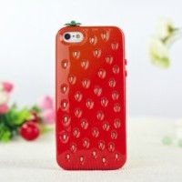 Sean Lovely Strawberry Case Cover for iPhone 5 (Red)