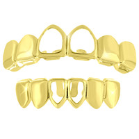 Top Bottom Teeth Grillz 14k Yellow Finish Halloween Sale