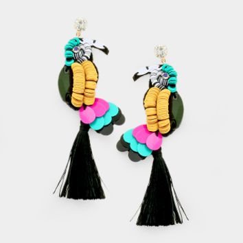 Palm Springs Parrot Earrings