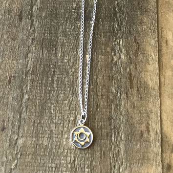 Sacral Chakra Sterling Silver Chain Necklace