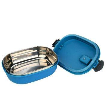 Single Stainless Steel Insulation Lunch Bento Box