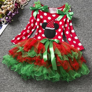 Christmas Girl Dress Fashion Princess Baby Girls Christmas Ball Gown New Year's Carnival Party Dress Costumes For Toddler Girl