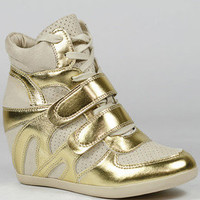 HIGH TOP FASHION SNEAKERS WEDGE ANKLE BOOT BOOTIE WILD DIVA BUBBLE-01