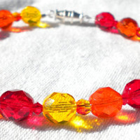 Awaken Like a Phoenix Red Orange Yellow Bracelet