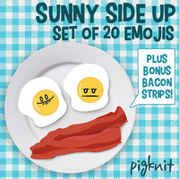 Eggs Clip Art, Sunny Side Up, Egg Faces, Emotions Clipart, School Download, Emoticons, Smiley Face Clip Art, Facial Expressions, Bacon Art