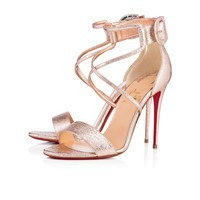 Choca 100 Rose Gold Specchio/Laminato - Women Shoes - Christian Louboutin