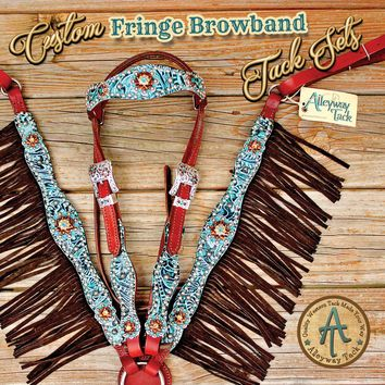 Custom Fringe Browband Tack Set