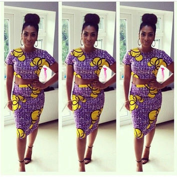 African Peplum Top Ankara Peplum Top African Peplum blouse Ankara blouse African Pencil Skirt Ankara Pencil Skirt