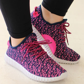Sporty Spice Trendy Sneakers ~ Pink ~ Sizes 7-11