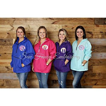 Lilly Pulitzer Monogrammed Pullover, Charles River Wind Pullover
