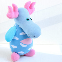 "Handmade  Personalized  Moose  "" Christmas Gift""  Stuffed Animal baby Plush Toy    Ready to Ship  6#"