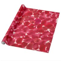 Red Roses Petals Valentine's Day Wrapping Paper