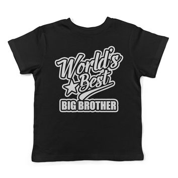 Lil Shirts World's Best Big Brother Toddler T-Shirt