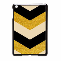 Chevron Classy Black And Gold Printed iPad Mini Case