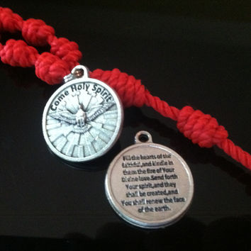 Confirmation Cord-Knot Rosary w/ Metal Crucifix