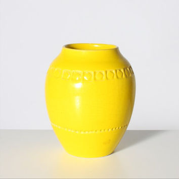 Bitossi Ceramic Vase Lemon Yellow