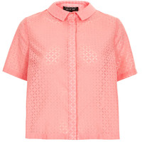 Shortsleeve Geo Burnout Shirt - Tops - Clothing - Topshop USA