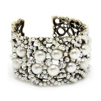 Pree Brulee - Pearls & Sparkles Cuff