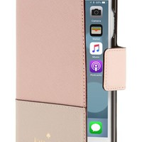 kate spade new york leather iPhone 6/6s/7/8 & 7/8 Plus case | Nordstrom
