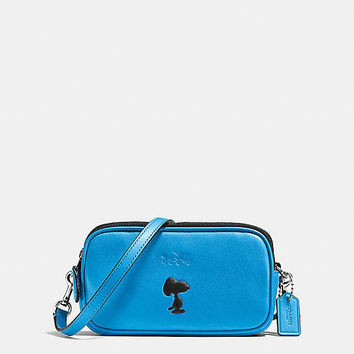 Coach X Peanuts Crossbody Pouch in Leather