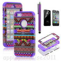 shopping2013 — 051021 Totem Protective Case For Iphone 4/4s/5 with pen and sticker