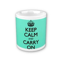 Acid Keep Calm And Carry On Mint Green Coffee Mug
