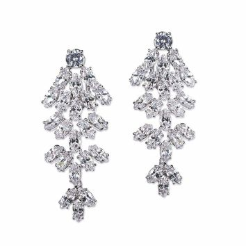 Marquise Waterfall Clip Earring