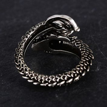 New Design Retro Adjustable Dragon Ring For Men Personality Fashion Finger Rings