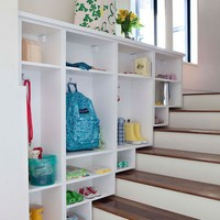 spaces / love this idea for stairs.