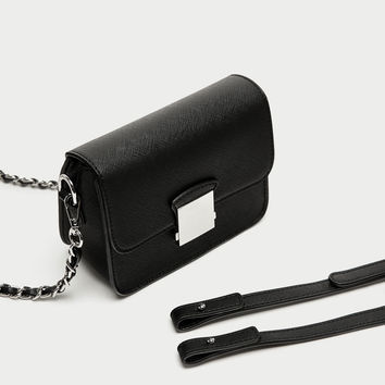 CROSSBODY BAG WITH INTERCHANGEABLE STRAPS DETAILS