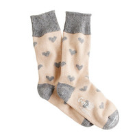 Corgi™ cashmere heart socks - socks & tights - Women's accessories - J.Crew